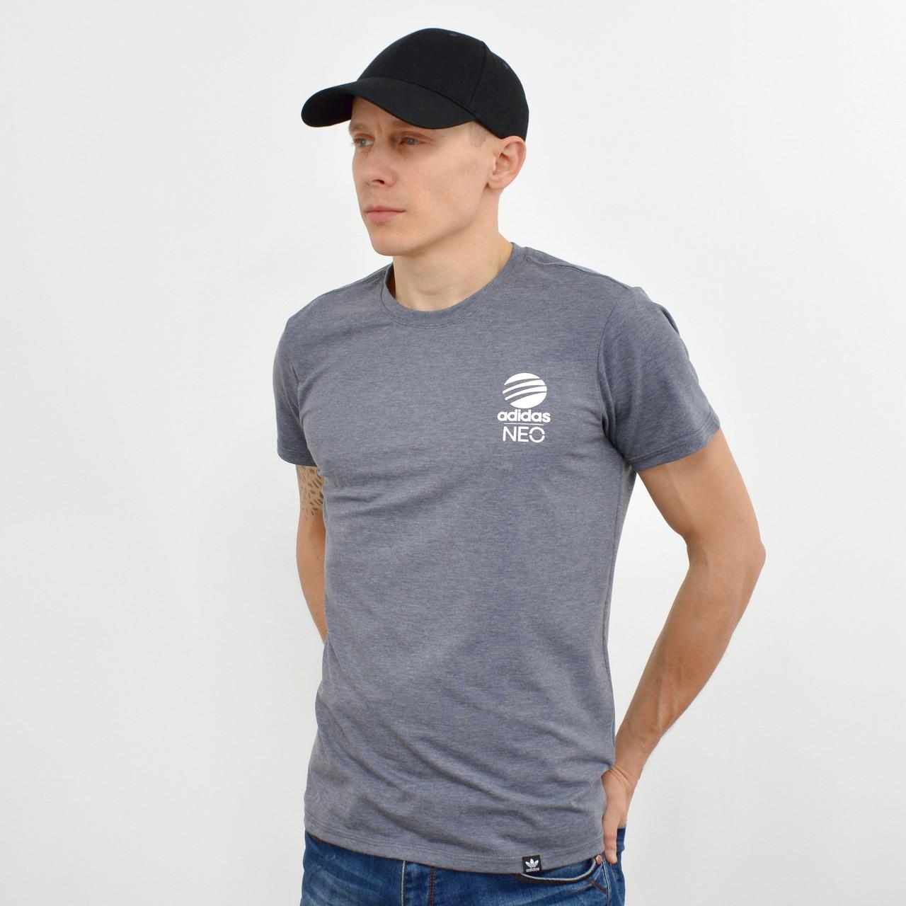 Чоловіча футболка з накаткою Adidas (репліка) сірий