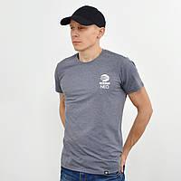 Чоловіча футболка з накаткою Adidas (репліка) сірий, фото 1