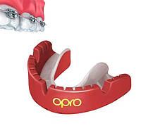 Капа OPRO Gold Braces Red/Pearl (art.002227008), фото 1