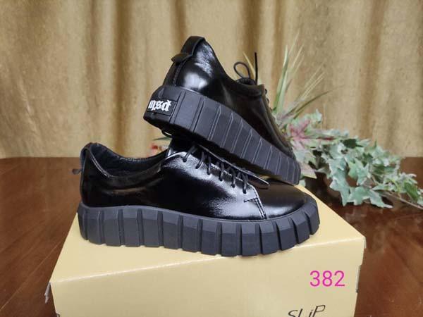 Кеды женские кожаные черный/серый 0010СЛИП 41