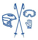 Гірськолижне спорядження (палки, маски, чохли, шоломи)