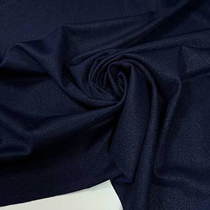 Креп-дайвинг трикотаж металлик темно-синий