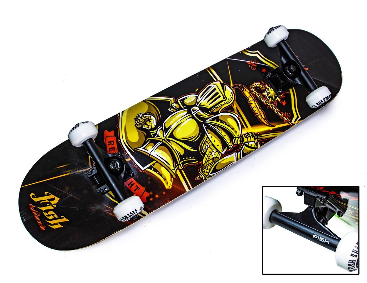 Скейтборд Fish Skateboard Рыцарь, до 90 кг