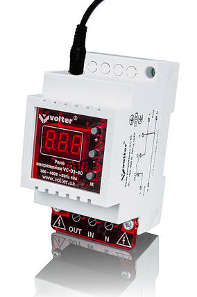 Реле контроля напряжения Volt-control VC-01-16Т (с разъемом для трансформатора тока), фото 2