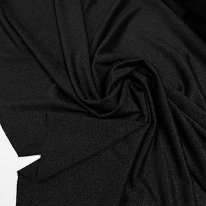 Креп-дайвинг трикотаж металлик черный