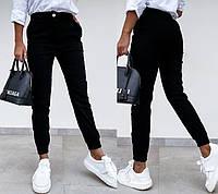 / Размер 42,44,46,48 / Женские брюки-джоггеры женские Bruno / цвет черный