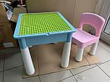 Ігровий столик і стільчик з конструктором 3035, фото 3