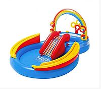 Игровой центр бассейн радуга (Intex 57453) 297х193х135 см, фото 1