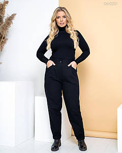 Женские Трендовые джинсы чёрные 48, 50, 52