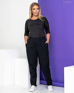Женские джинсовые брюки чёрные 48, 50