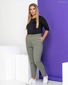 Женские джинсы высокой посадки хаки с поясом 48, 52