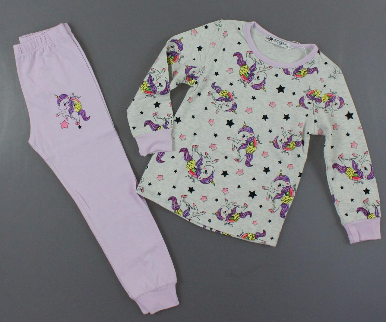 {есть:1 год,2 года,4 года,5 лет} Пижама для девочек Setty Koop, Артикул: PJM1011-серый [1 год]