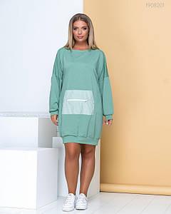 Женское спортивное платье оливковое 48-50,  56-58.