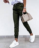 / Размер 42,44,46,48 / Женские брюки-джоггеры женские Bruno / цвет хаки