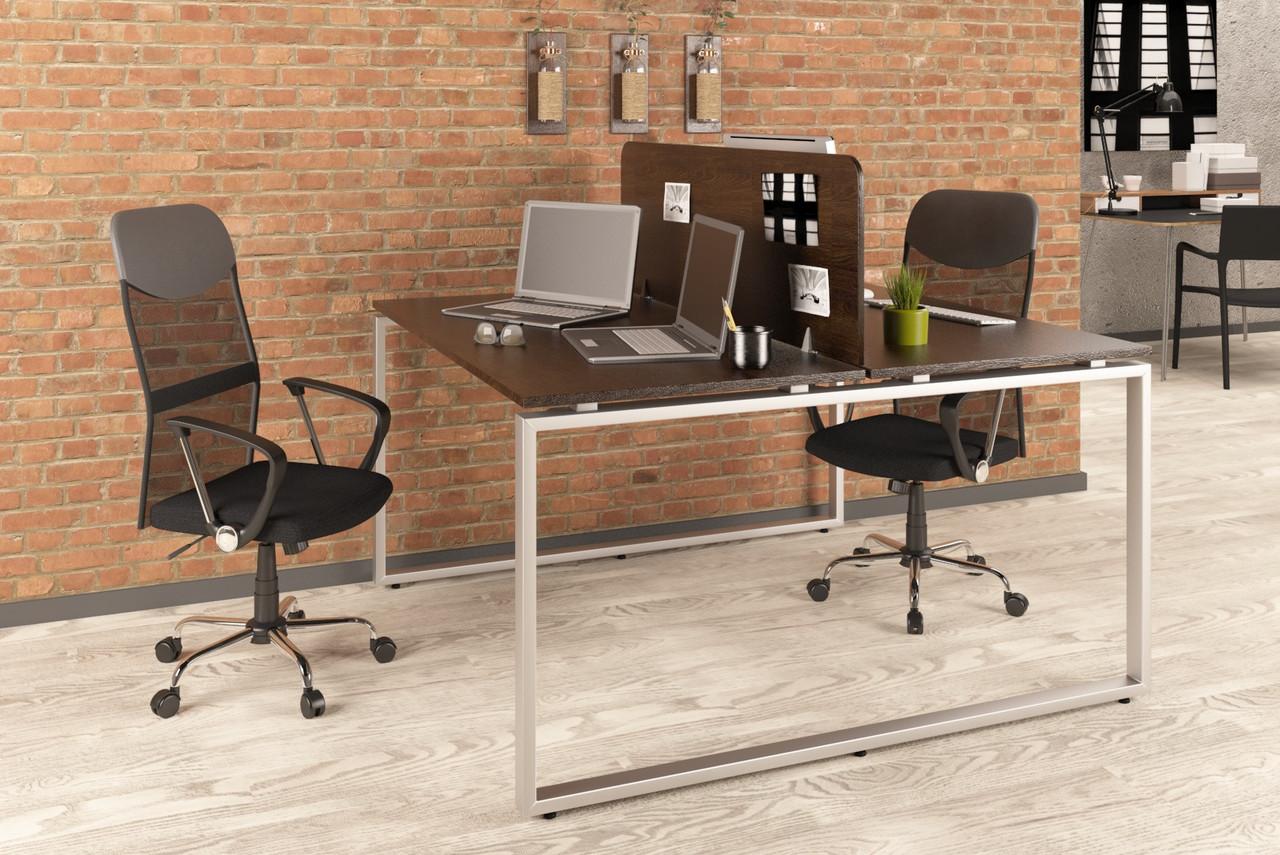 Двойной письменный стол Loft design Q-140 Венге Корсика