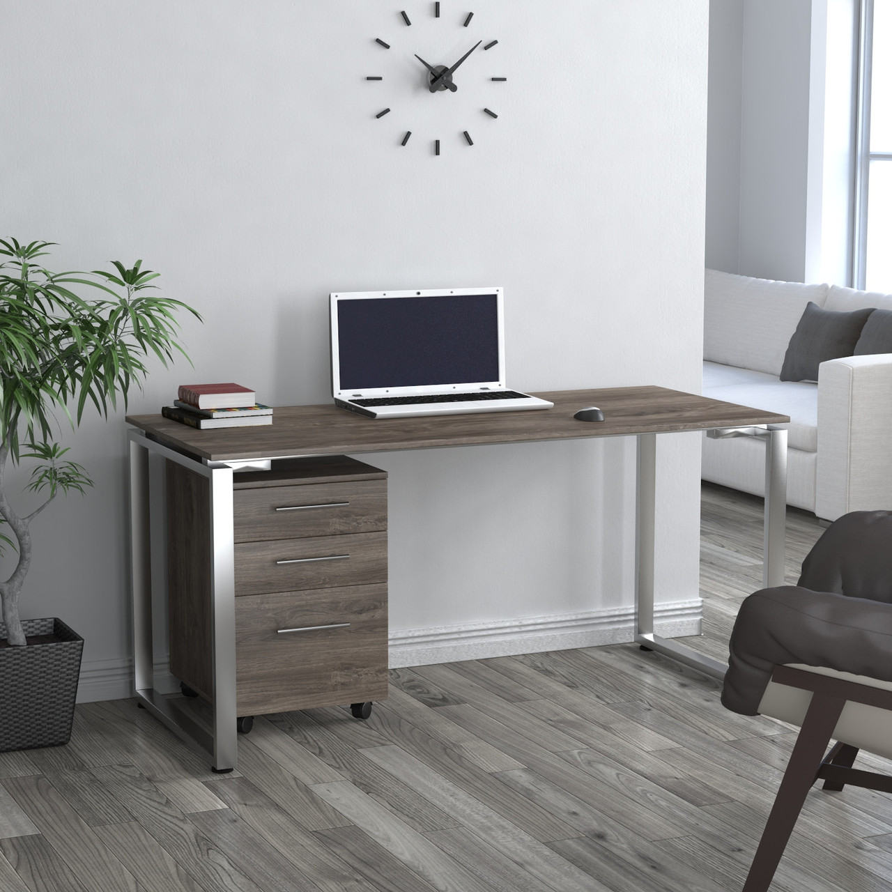 Письменный стол Loft design Q-160 Дуб Палена Столешница 16 мм