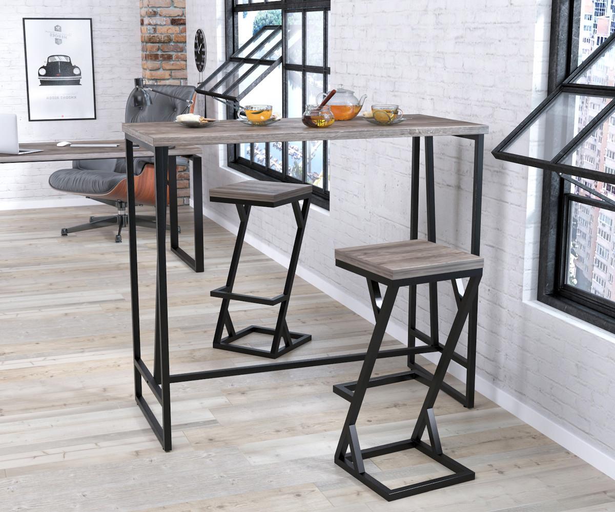 Барный стол BS-125 Loft Design Дуб Палена