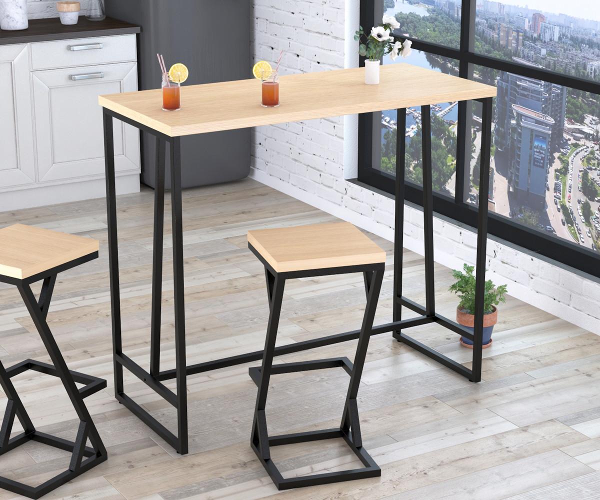 Барный стол BS-125 Loft Design Дуб Борас
