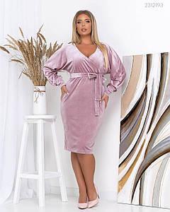Женское Платье Эм фрезовое под пояс 50, 52, 54