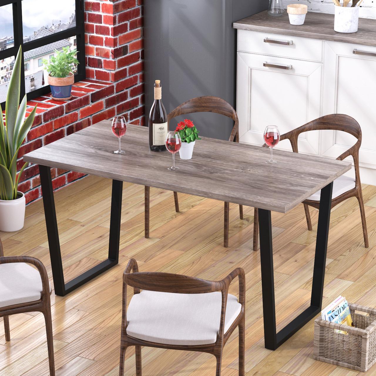 Стол обеденный Трапеция Loft Design Дуб Палена