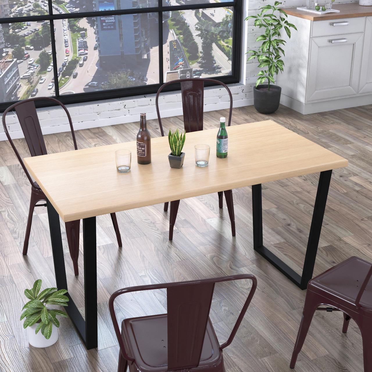 Стол обеденный Трапеция Loft Design Дуб Борас