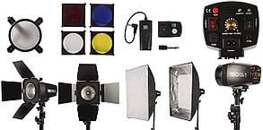 Набір студійного імпульсного світла FST EG-180KA з софтбоксом