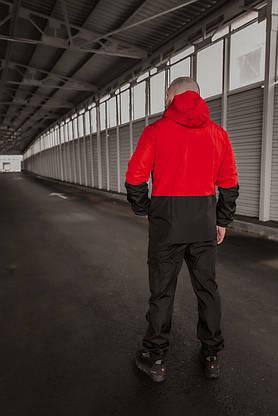 Чоловічий костюм червоно-чорний демісезонний Intruder Softshell Light Куртка чоловіча червона, штани сині чорні, фото 3