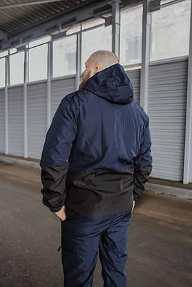 Чоловічий костюм синьо-чорний демісезонний Intruder Softshell Light Куртка чоловіча синя, сині штани чорні, фото 2