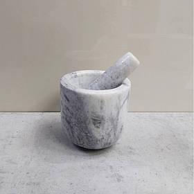 Ступка с пестиком мраморная каменная Dynasty 15012