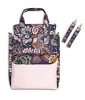 Сумка для мам Sensillo Mama Bag з кріпленням до коляски Boho Brudny Roż