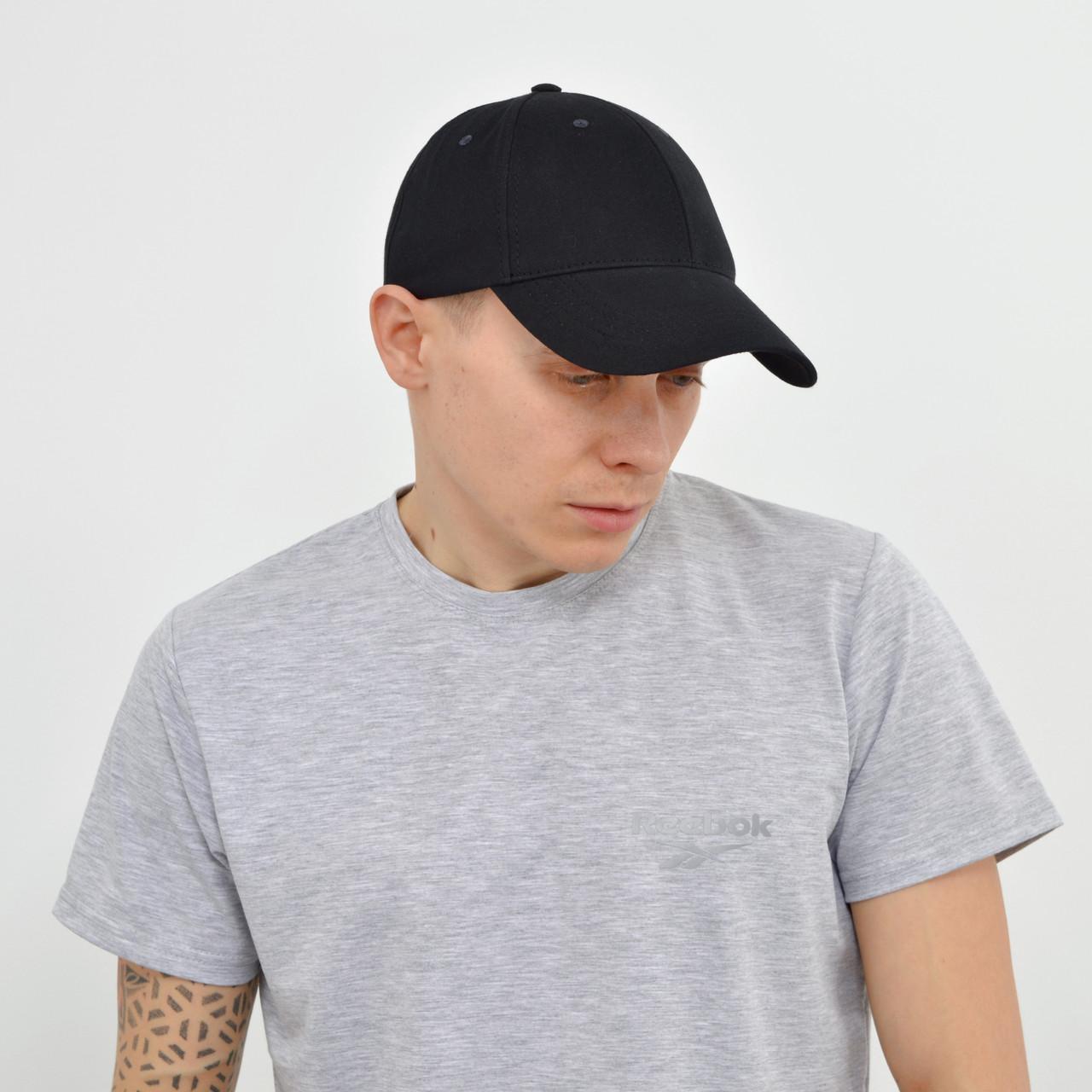 Мужская футболка с светоотражайкой Reebok (реплика)  на груди и спине черный