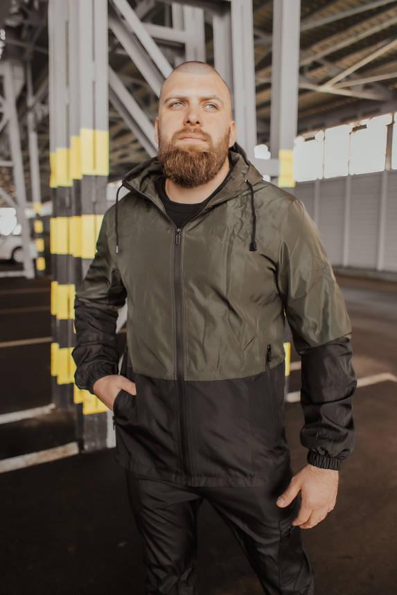 "Чоловіча весняна куртка хакі-чорна Intruder ""SoftShell Lite"", фото 2"
