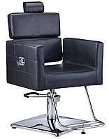 Перукарське крісло з екологічної шкіри Calissimo чорне PAVLO