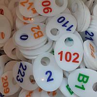 Гардеробные номерки акриловые с нанесением ценной печати, фото 1