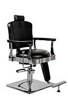 Перукарський стілець барбершопера з еко шкіри Barber King чорне LOTI