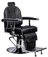 Перукарський стілець барбершопера з еко шкіри Calissimo чорне PRIM