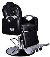 Крісло перукарське для барбершопера з еко шкіри Barber King чорне BESARION