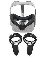 Силиконовая накладка для защиты глаз(убирает просвет) силиконовые чехлы для джойстиков Oculus Quest 2 (3 в 1)