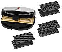 Тостер для сендвічів вафельниця і контактний гриль Clatronic 3 в 1 ST/WA 3670, фото 1