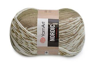 YarnArt Nordic, №661 кофе-белый
