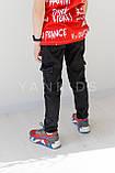Джинсы с карманами для мальчика  на рост 146-170см, фото 2