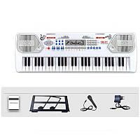 Детский синтезатор Electronic Keyboard 8238 с микрофоном и держателем для нот, фото 1