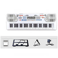 Дитячий синтезатор Electronic Keyboard 8238 з мікрофоном та тримачем для нот, фото 1