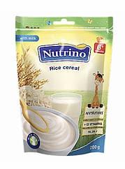"""Каша суха молочна швидкорозчинна з рисом 200г ТМ """"NUTRINO"""" з 6 місяців."""
