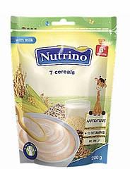 "Каша сухая молочная быстрорастворимая 7 злаков 200г ТМ ""NUTRINO"" с 6 месяцев."
