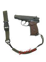 Пистолетный шнур витой быстросъемный Olive