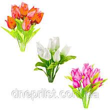 """Букет искусственный """"Тюльпаны атлас"""" 8 бутонов, 5 см, 36 см (5 видов)"""