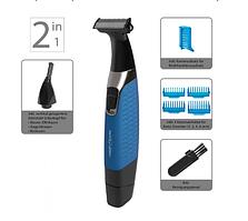 Машинка тример стайлер бритва для стрижки волосся з насадкою для волосся в носі і вухах 2 в 1 ProfiCare