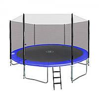 Большой батут с защитной сеткой и лестницей для дома и дачи 366см  до 160 кг (12 ft)
