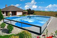 Покрытие для бассейна Champion (монолитный поликарбонат) ручная версия, длинна 3 м